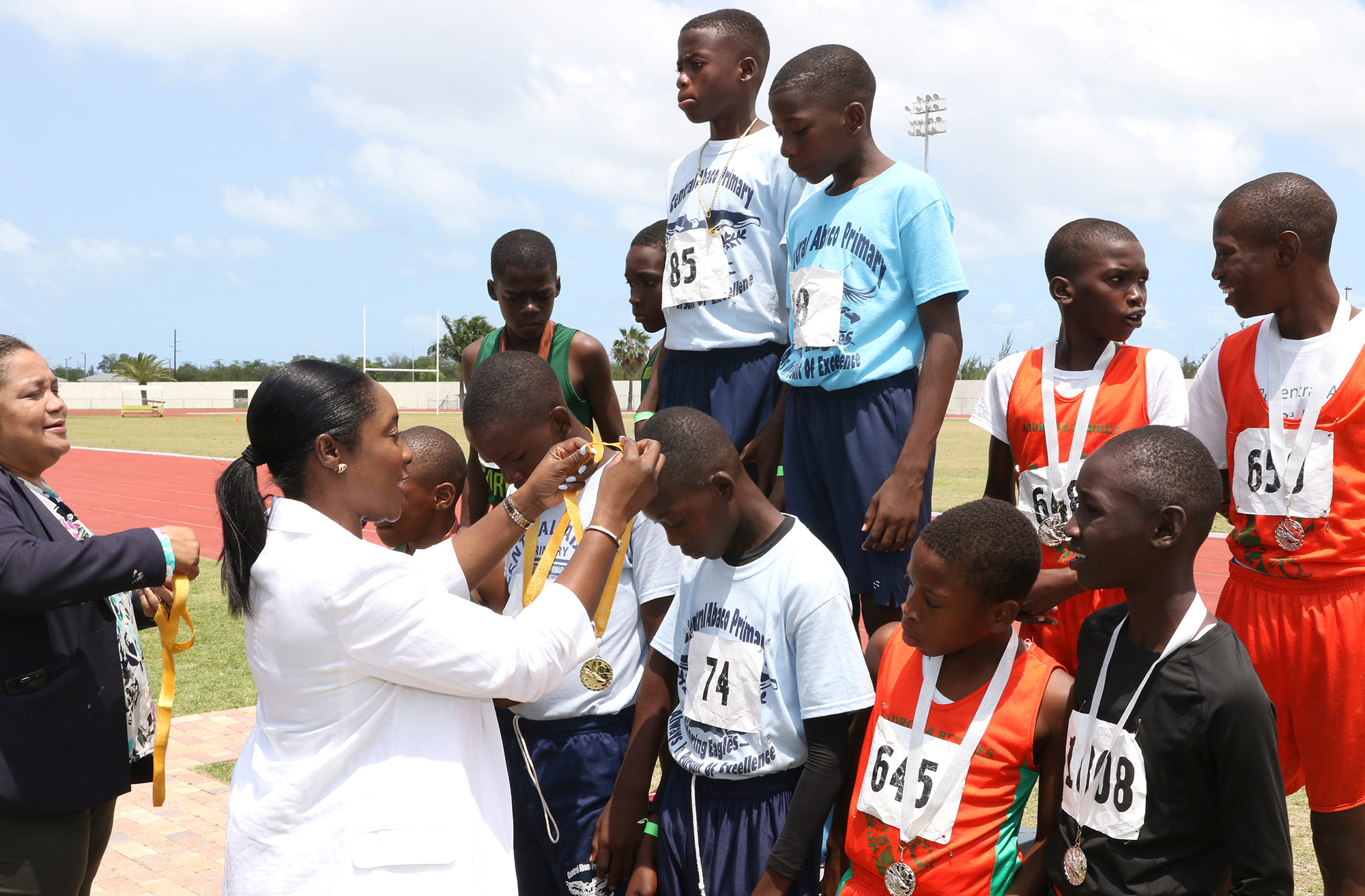 Minister Lanisha Rolle Presents Medals | ZNS BAHAMAS